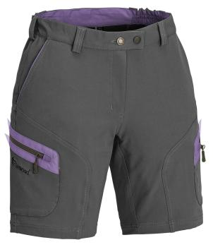 "Pinewood "" Wildmark "" Stretch Damen Shorts - grau/Lavendel"